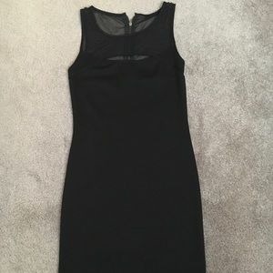 Forever 21 Fitted Little Black Dress With Mesh Top